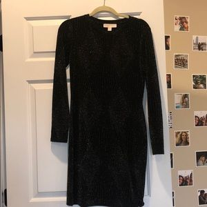 Michael Kors long sleeve short bodycon dress